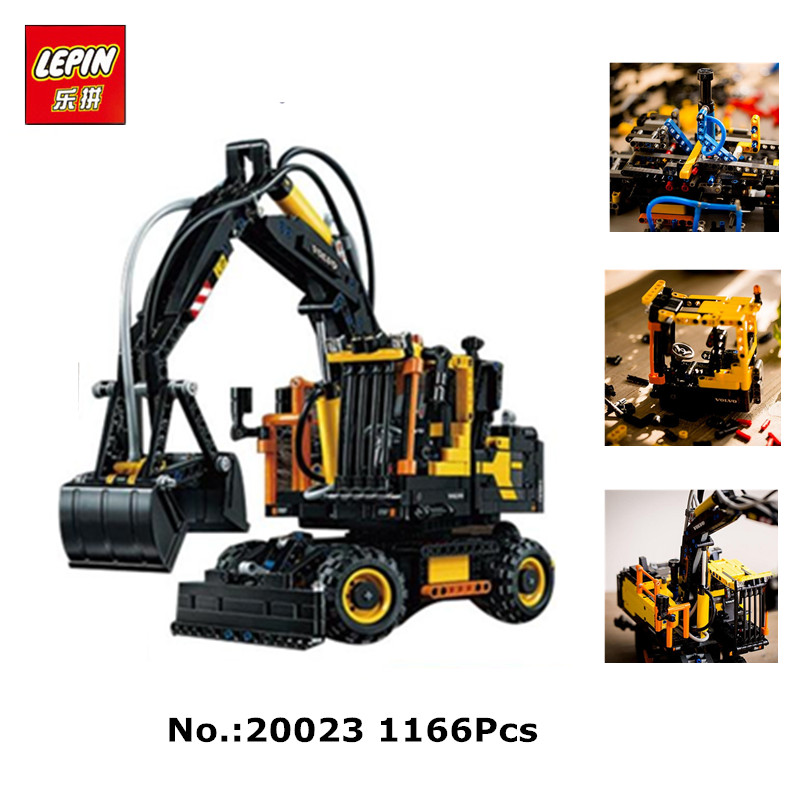 In-Stock 2017 New LEPIN 20023 1166Pcs Technology Series Excavator toy  Building blocks toys for children gift 42053 стоимость