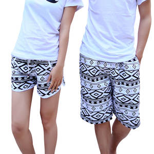 a089bd4b50 Men Women Summer Clothing Quick Dry Beach Shorts Striped Swimwears Lovers  Boardshorts