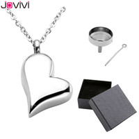 JOVIVI Hot Style Stainless Steel Memorial Ash Keepsake Cremation Jewelry Love Heart Container Urn Memorial Pendant
