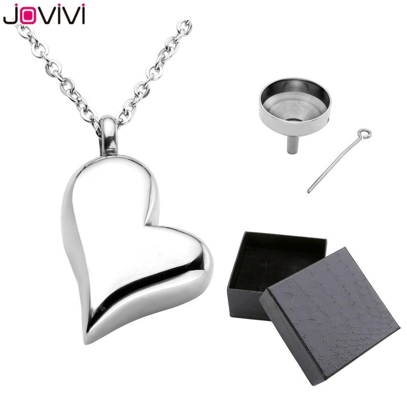 купить JOVIVI Hot Style Stainless Steel Memorial Ash Keepsake Cremation Jewelry Love Heart Container Urn Memorial Pendant Necklace 24 по цене 502.17 рублей