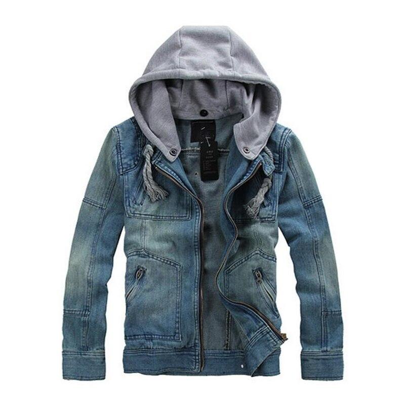 fournisseur officiel la moitié qualité authentique US $32.24 48% OFF Male Veste Jean Homme Casual Jeans Jacket Coat 2019 New  Winter Denim Jackets For Men, Solid Hooded Men's Denim Jacket Plus Size-in  ...