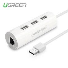 Ugreen usb 2.0 сетевой концентратор ethernet rj45 lan сетевой карты USB для Ethernet Адаптер для Mac iOS Android ПК Сети карты