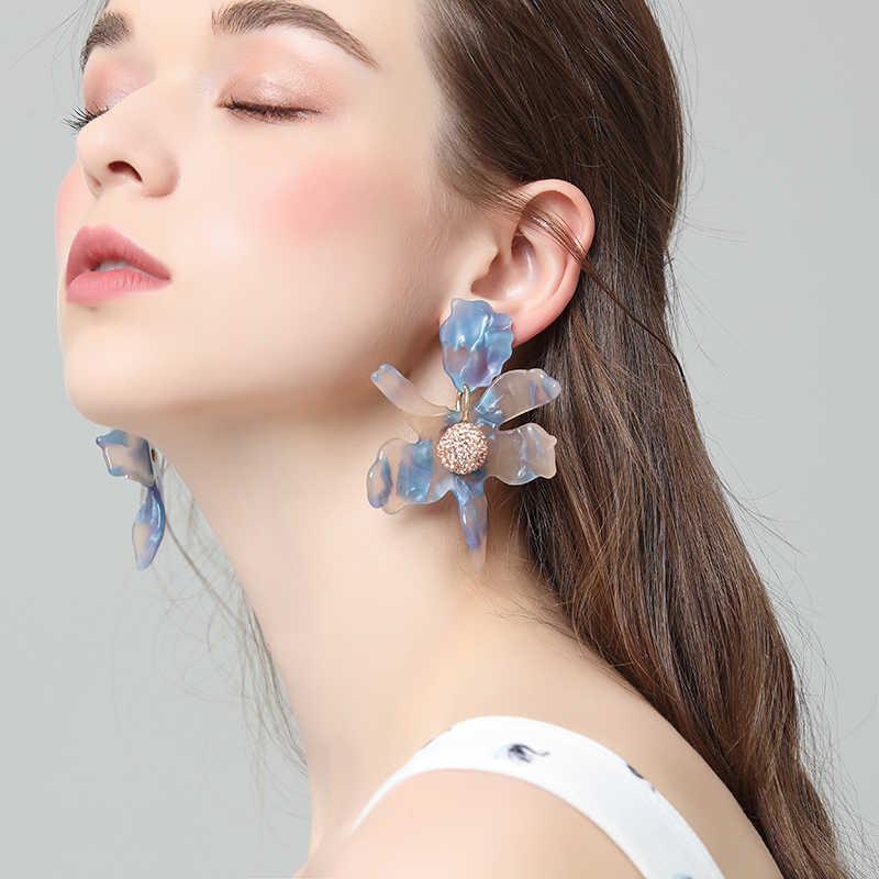 Silber Übertreibung Harz Stud Ohrringe für Frauen Einzigartige Rauch Design Personalisierte Ohr Schmuck 4C4028