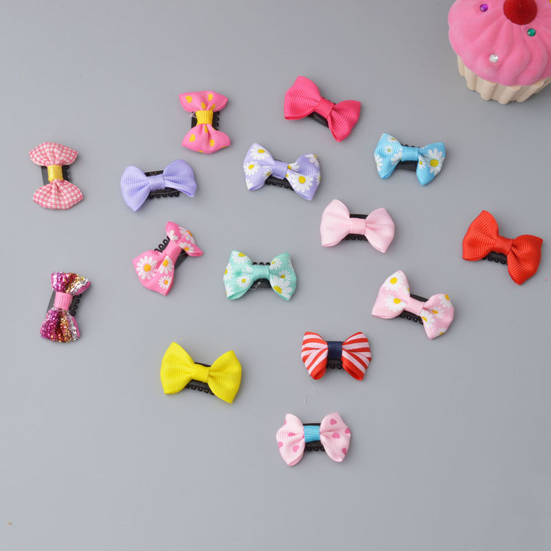 YYXUAN 5 pieces little kids Wisp Clip Grosgrain Hair Bow Fine Hair Little Girls Infants Accessory Gift Fine Hair clip little pieces платье little pieces модель 28949119