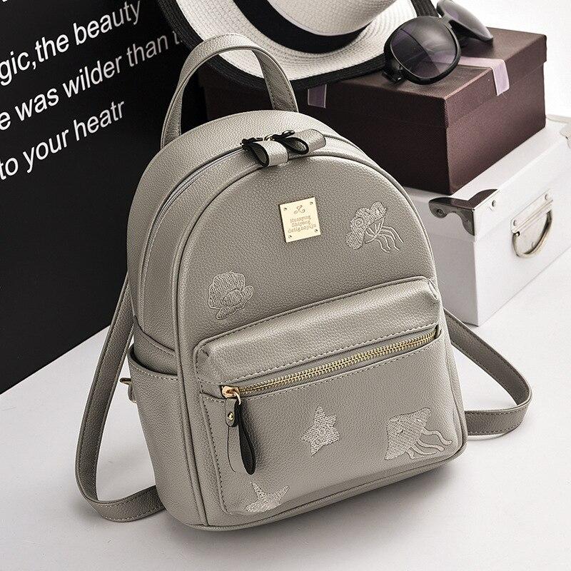 2017 New Fashion Women Backpacks Women's PU Leather Backpacks Girl School Bag High Quality Women Bags Designer Bolsas 5 Color