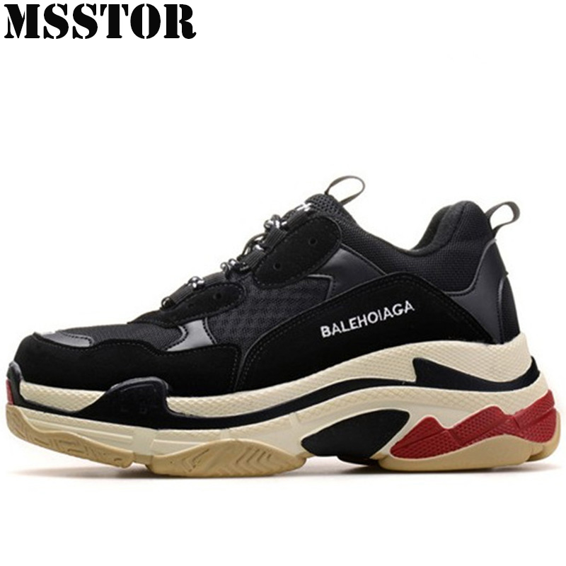 MSSTOR Spring 2018 Men Running Shoes Lovers Sport Shoes For Women Large Size 35-46 Womens Sneakers Breathable Mesh Sports Run