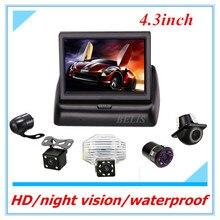 4.3 inch TFT LCD Car Reversing Display Portable Rear View Monitors Night Vision Car Rear View Parking Camera for Toyota Corolla