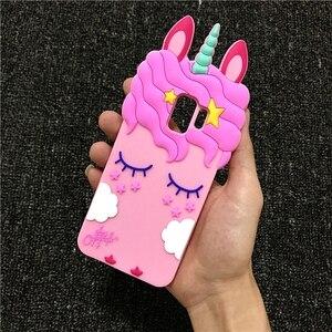 3D Cartoon Liquid Unicorn Horse Soft Silicone Case for Samsung Galaxy S3 S4 S5 S6 S7 Edge S8 S9 Plus Note 8 9 A5 A6 A7 A8 2018