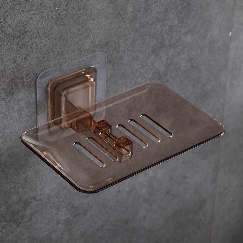 1 Pcs Kamar Mandi Sabun Tray Pemegang Mandi Sabun Kotak Piring Penyimpanan Piring Pemegang Case Kamar Mandi Kotak Rak Dinding Piring Tray aksesoris