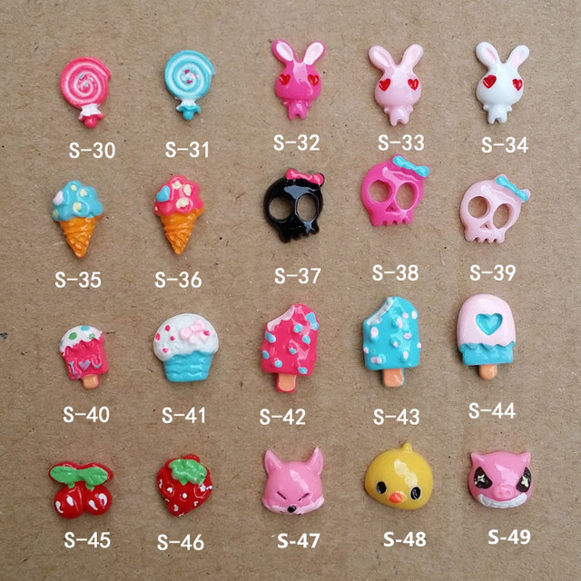 Mix Order: $0.7 3D Ice Cream Design Resin Nail Art DIY Nail Stickers ...