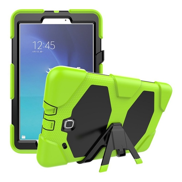 cheap for discount 467f3 e7761 US $16.39 5% OFF|Shock Proof Flat Case For Samsung Galaxy Tab E 9.6 SM T561  Silicone Rugged Cover For Galaxy Tab E 9.6 inch SM T560 Tablet Case-in ...