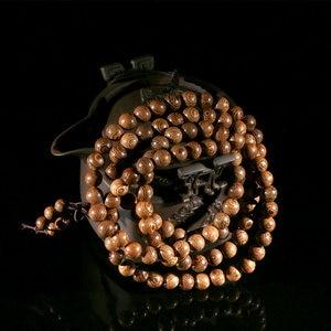 Image 2 - Buddhist 108 Beads Bracelet Meditation Rosary Bracelet Wooden Unique Prayer Beaded Women Men Lucky Bangles Bracciali