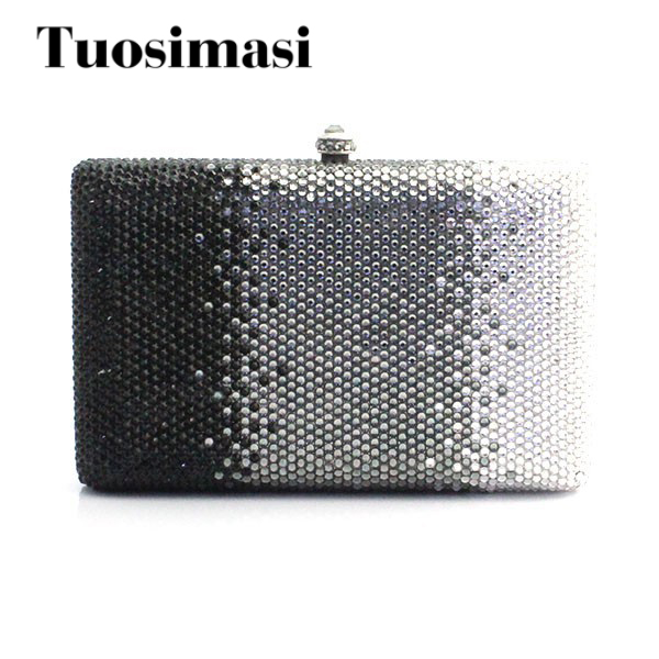 Exquisite handmade evening party ladies clutch purse bag top selling crystal party bags