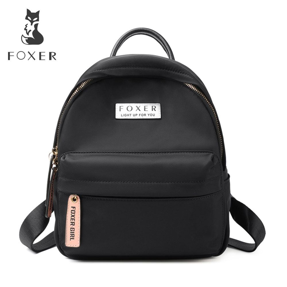 FOXER Women's Oxford Backpack School Bag For Teenage Girls Ladies Waterproof Light Travel Bags Fashion Backpacks for girls