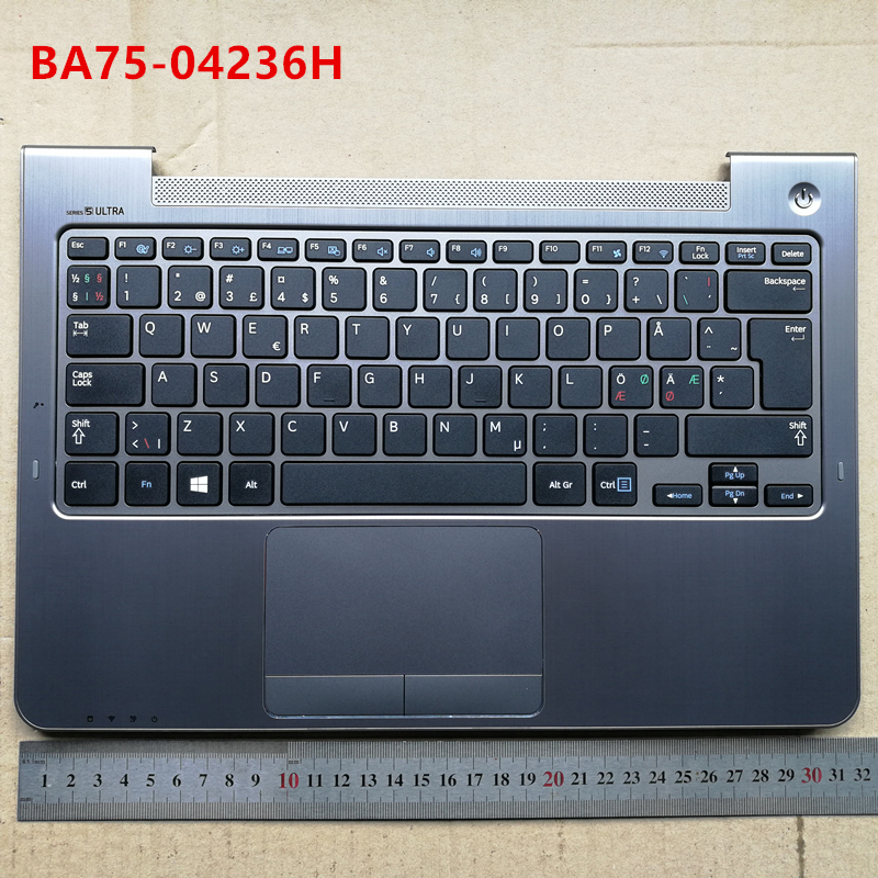 """New laptop keyboard with touchpad palmrest for Samsung 13.3"""" np 542u3x 540u3c 540U3X 540U3B NW NE  BA75-04236H/"""