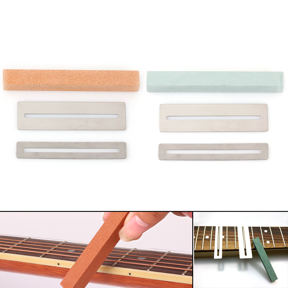 diy luthier tool kit guitar fret wire polishing beam sanding stone protector in other parts. Black Bedroom Furniture Sets. Home Design Ideas