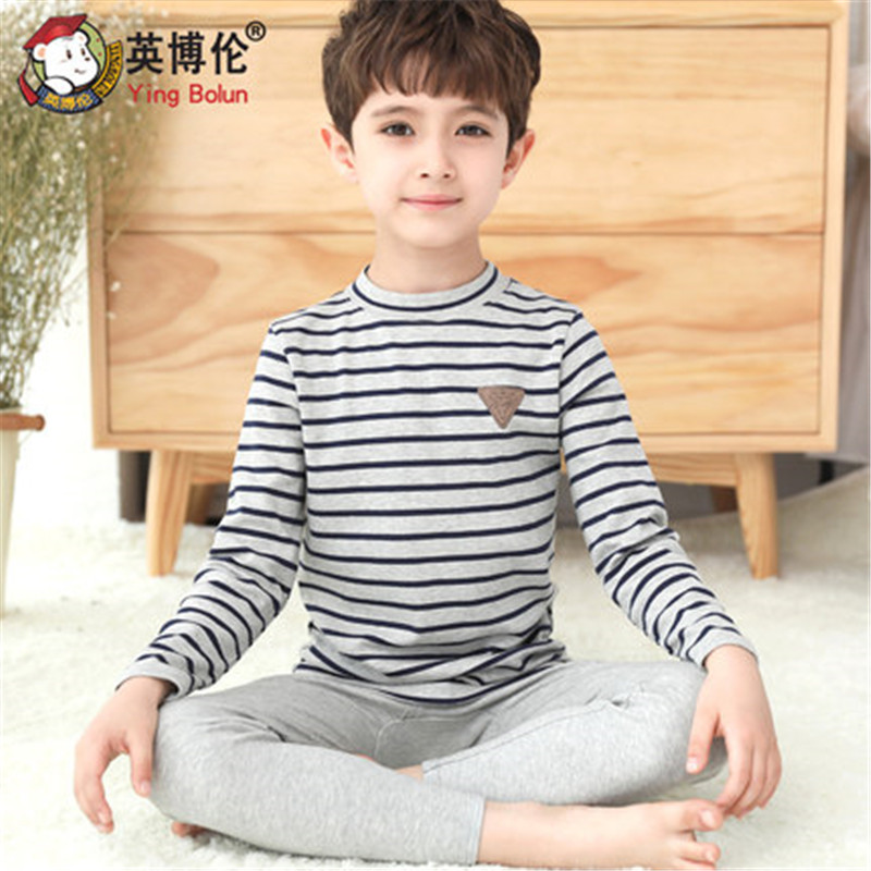 100% Cotton Skin-friendly Boys Long Johns Teen Underwear Sets Soft Thin Pajamas Kids Homewear Baby Night Wear Young TeenageAAAAA
