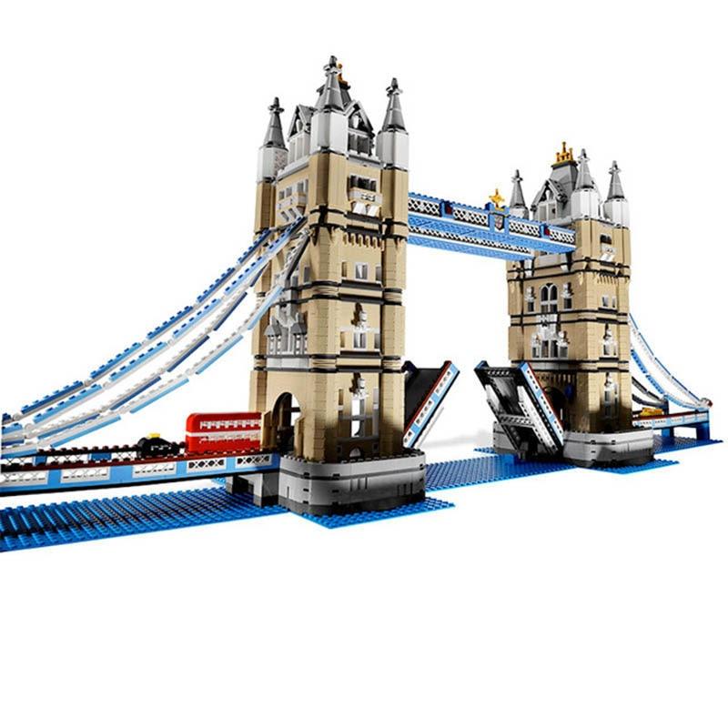 4295pcs London Tower Bridge Building Blocks Kit Bricks Compatible Legoings Kids Educational Toys For Children Christmas Gifts 54pcs children wooden tower wiss toys kids wood number building blocks christmas gifts educational toy fast shipping english