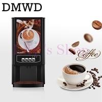 DMWD 3 different drinks mini instant automatic coffee maker Commercial 2 beverage vending machine fruit juice tea Milk machine