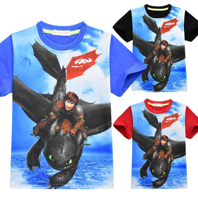 Как приручить дракона 3 Light Fury летний костюм для косплея мальчиков и девочек короткий рукав мультфильм 3D печать Беззубик футболка