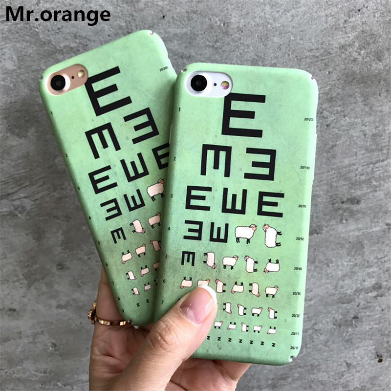 Cute Cartoon Eminem Eye Chart Case For Iphone 7 Case For ...