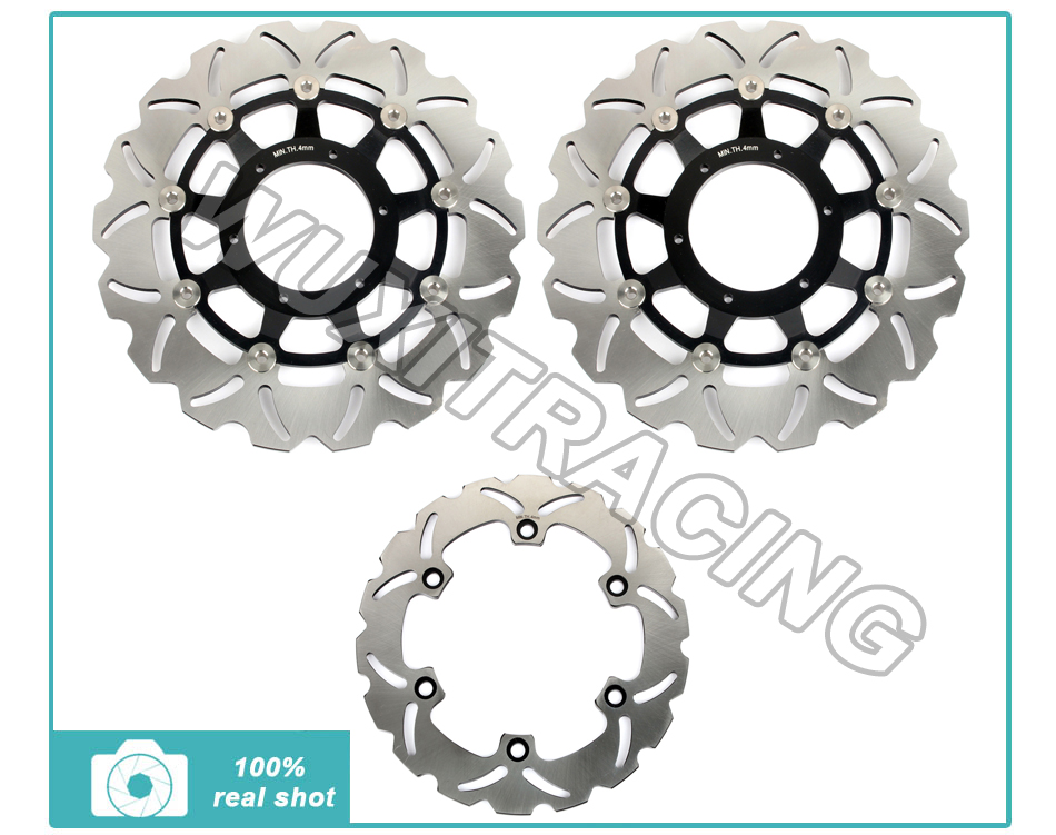 Black Front Rear Brake Disc Rotor for Honda CB 1300 F F3 SF SuperFour S Super Bol-Dor 03 04 05 06 07 08 09 10 11 12 13 14 CB1284
