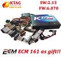 Mejor K TAG KTAG 2.13 Hardware V6.070 No Tokens Limited 2.13 Interfaz de Chip ECU K-TAG Maestro Works Multi-Coches/Camiones envío ECM!!