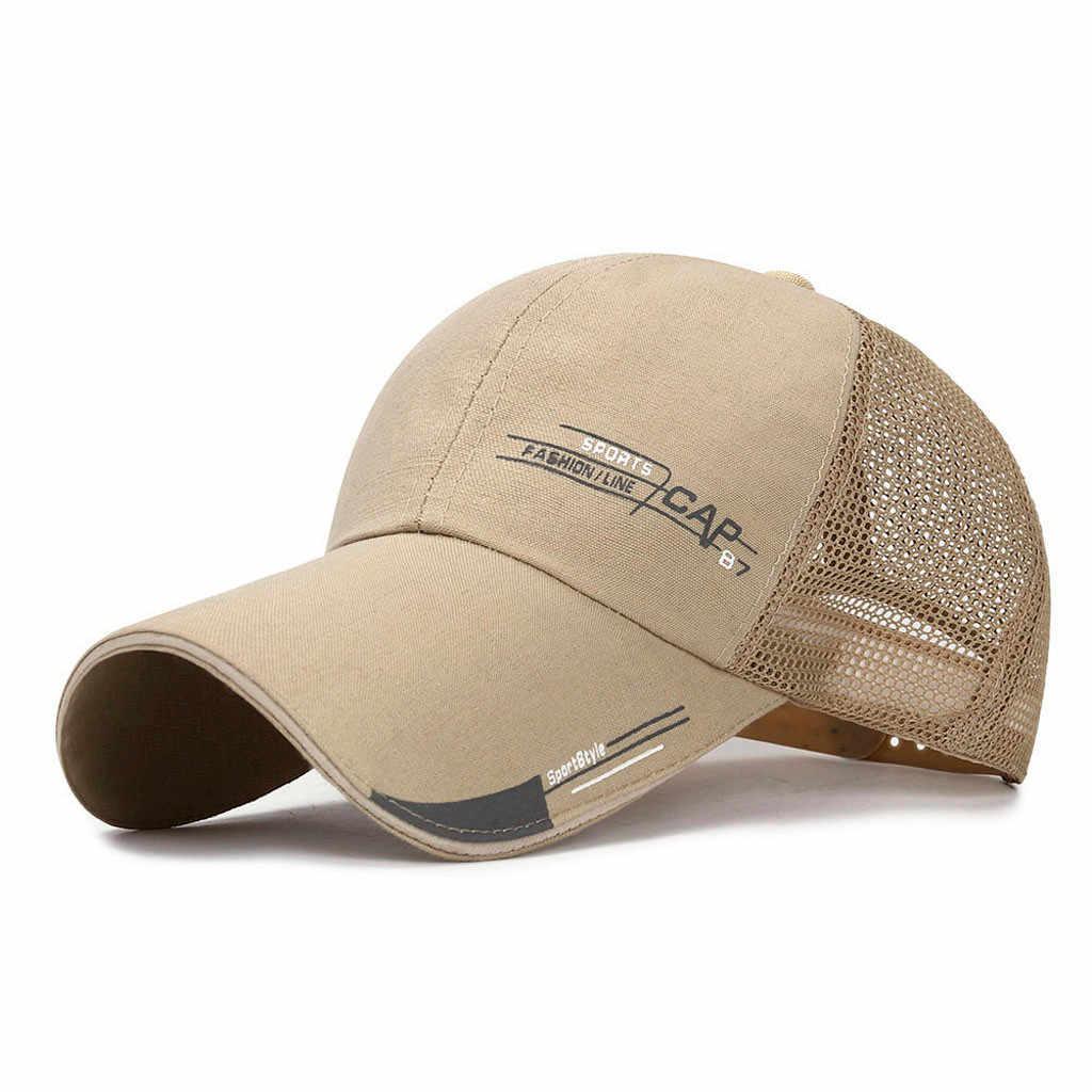 Unisex kobiety mężczyźni Mesh czapka z daszkiem regulowany Trucker Outdoor Sport Hip-hop kapelusz oddychająca Running Quick Dry czapka z daszkiem