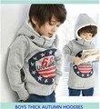 Retail children's winter fleece Korean version Autumn 68 thick cotton cashmere sweater hooded sweater boy girl's free