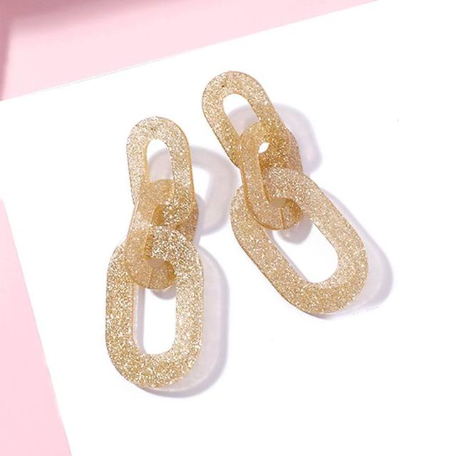 Thick Chain Design Statement Earrings For Women Acrylic Drop Earring 2018  Big Fashion Jewelry Korean Style Party Accessories 8d94111ba9d3