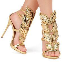 ผู้หญิงปั๊มรองเท้าส้นสูงเซ็กซี่รองเท้าผู้หญิงP Eep Toe G Ladiatorรองเท้าส้นสูงรองเท้าแต่งงานรองเท้าสตรี
