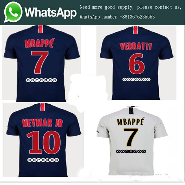 6d25d2dadf7 2019 PSG Jersey 18 19 Home Away Soccer jersey camisetas Neimar JR MBAPPE t- shirt football jersey size S-4XL Free Shipping