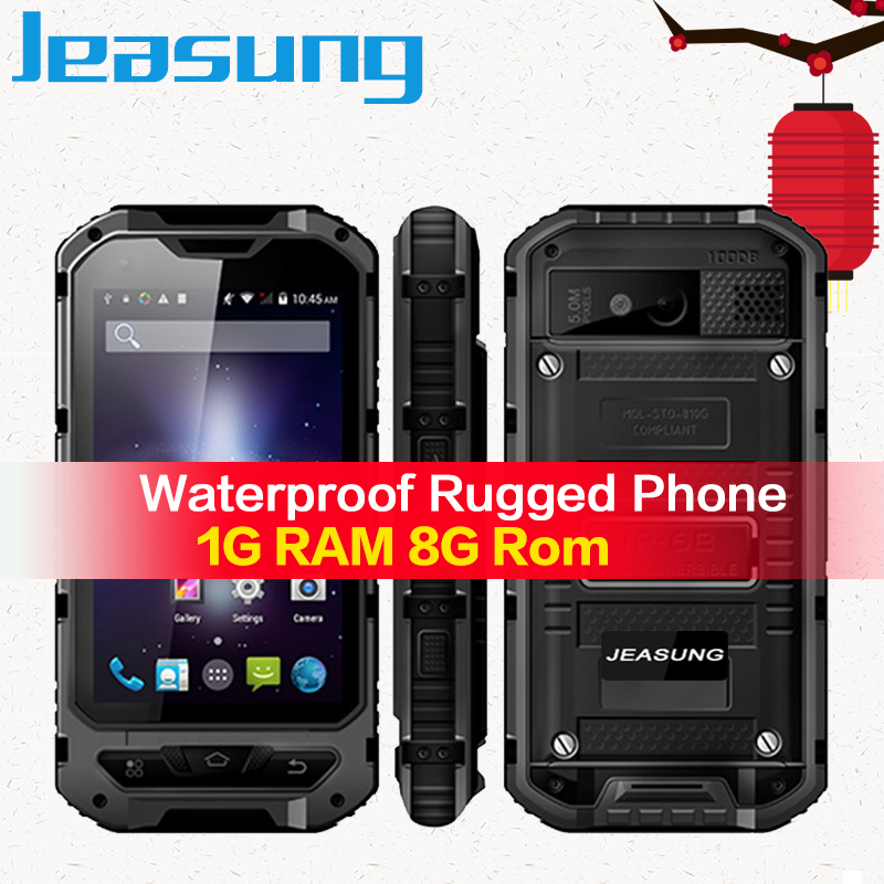 Jeasung A8 3G 4inch Rugged Smartphone, Quad Core MTK6580, Android 4.4 1/8GB, 3000mAh Battery mobile phone