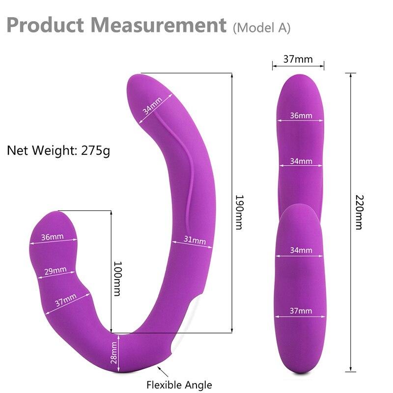 Strapless Strapon Dildo Vibrator Wireless Remote Control Strap on Lesbian Double Penetration Dildo Vibrator Sex Toys for Woman