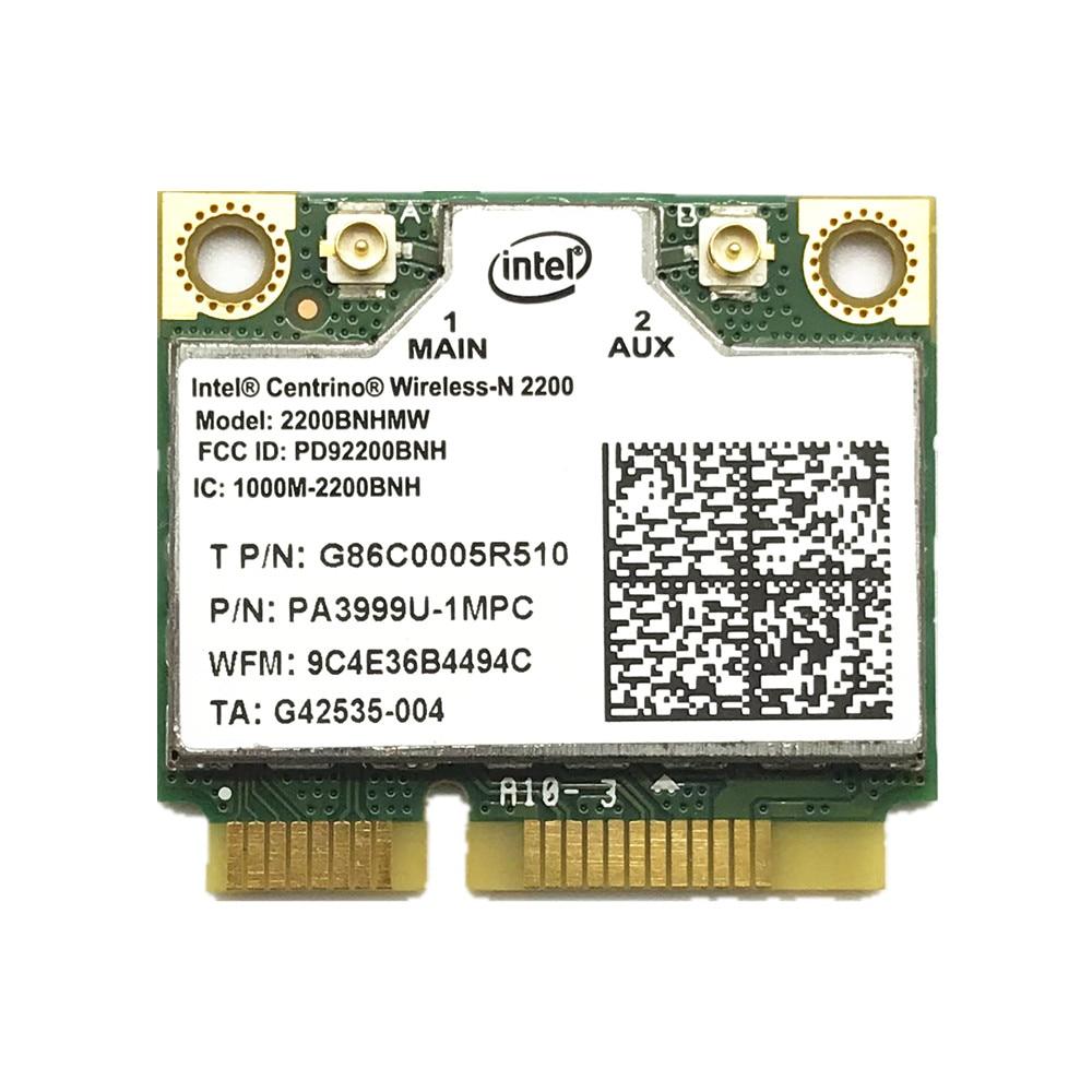 Pour Intel Centrino Wireless-n 2200 2200 2230BNHMW 802.11b/g/n 300 Mbps 2x2 Wi-Fi carte