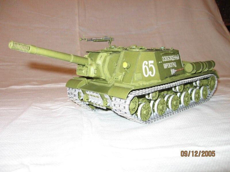 1:35 modèle en papier à monter soi-même soviétique lourd automoteur pistolet Isu-152 WW II garçon cadeau Papercraft 3D Puzzle