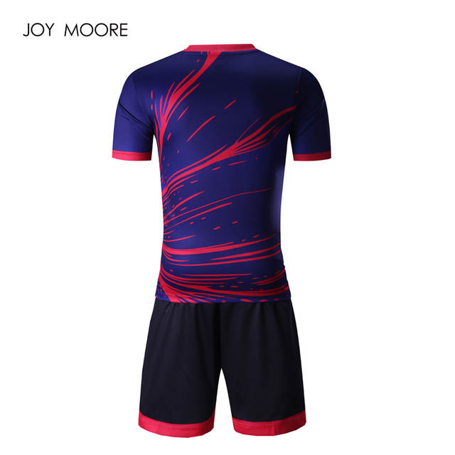 placeholder full sublimated soccer jerseys Thai Quality 2017 2018 newest  Men s blue pink sport football uniforms custom 7866608a4