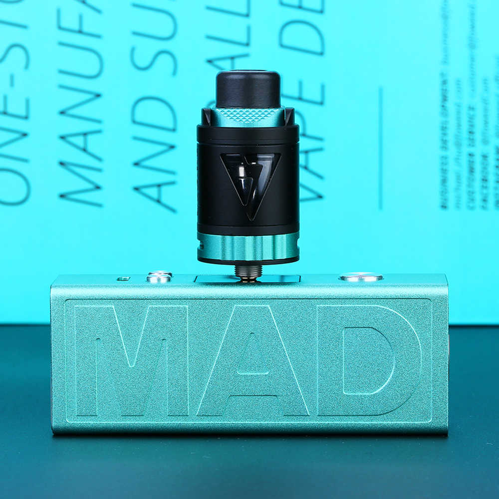 2018 New Original Desire Mad Mod 108W TC Kit with M-Tank Atomizer 3ml & 35A Output Current Bottom Airflow Design E-cig Vape Kit