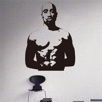 Tupac Shakur Wall Decal 2pac Rapper Wall Vinyl Sticker Hip Hop Home Interior Bedroom Decor Wall