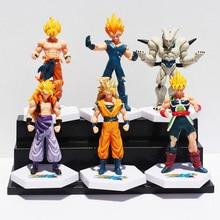 Anime Dragon Ball Z Super Saiyan Goku Vegeta Gotenks Buu PVC Action Figure Toys 6pcs set