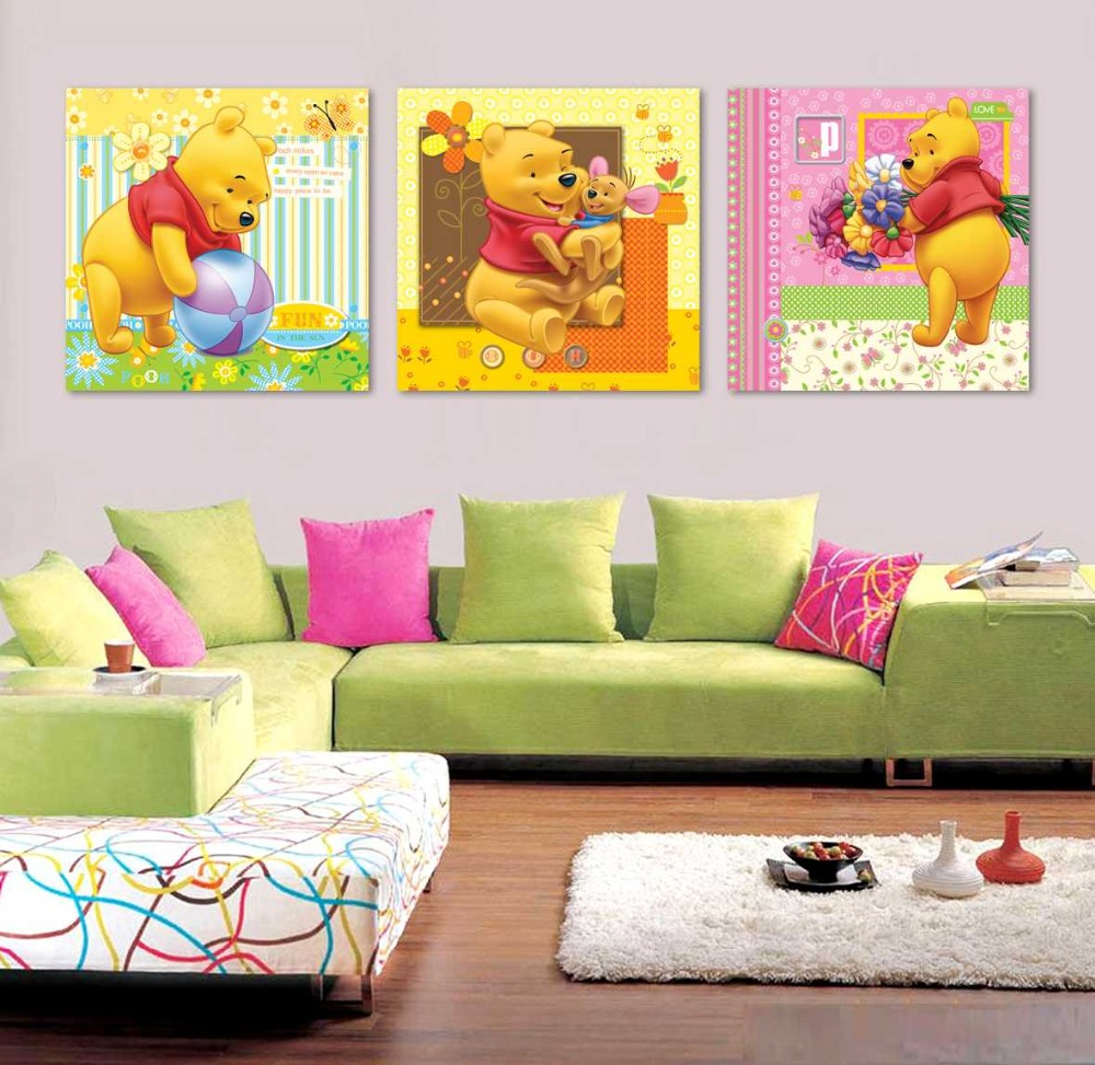 Fantastic Winnie The Pooh Canvas Wall Art Pictures Inspiration - The ...
