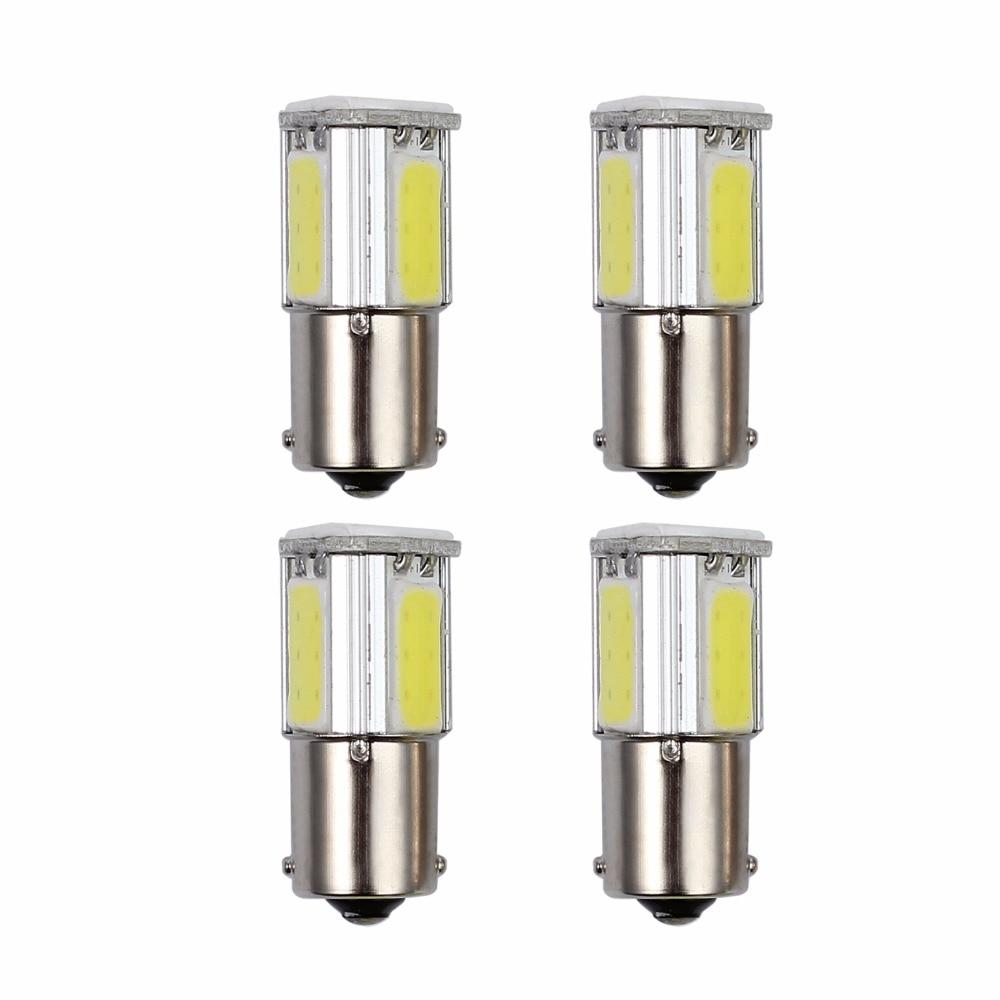 Neoteck 4 Pcs COB Led Light Bulbs 1156 BA15S 382 P21W Led Lamp 5W Signal Lights For Car Turn Signal Reverse Back Light Bulb