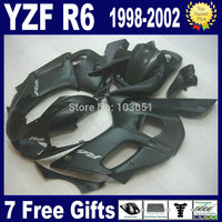 7gifts custom fairings for YAMAHA YZFR6 1998 1999 2000 2002 all matte black YZF R6 98 99 00 01 02 motorcycle ABS Fairing kit