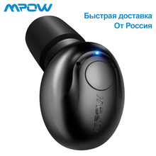 Mpow EM1 один Bluetooth 4,1 Наушники Беспроводные Мини невидимые наушники-вкладыши бизнес-вкладыши портативные наушники с микрофоном/Чехол