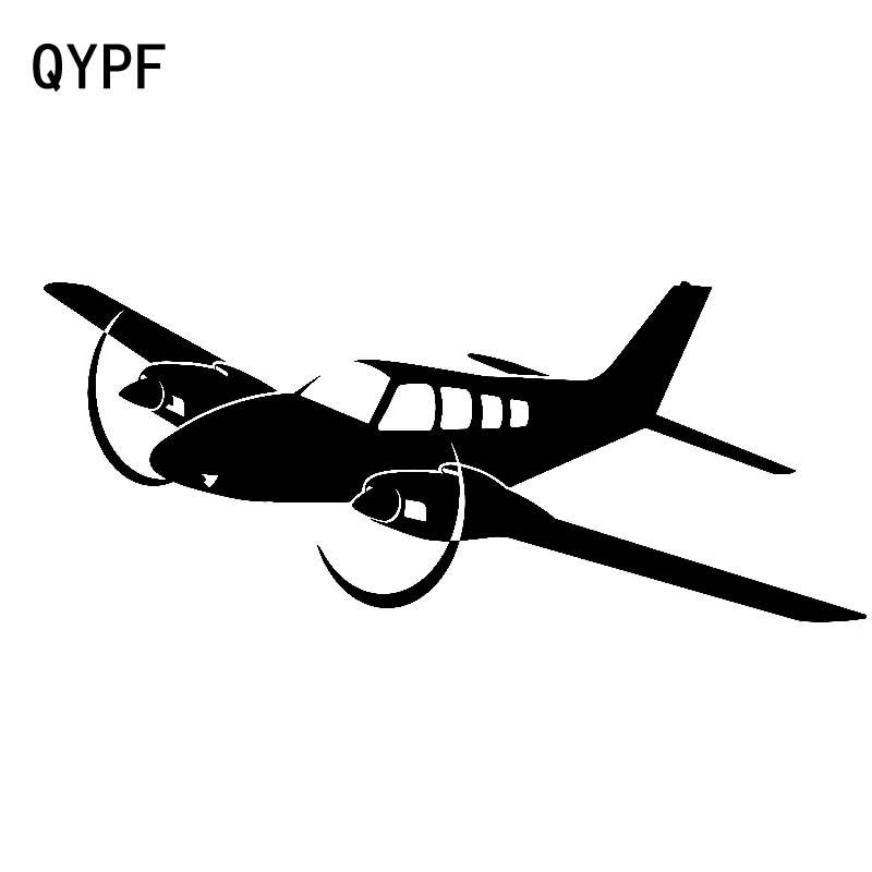 QYPF 18.8cm*7.7cm Light Feeling Beautiful Passenger Cabin Airplane Original Vinyl Car Sticker Specific Decal C18-0789