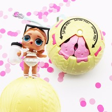 1Pc Confetti Pop LOL Dolls in Ball Toys 10cm 3 Series Baby Tear Open Color Change Action Figures Girls Best Birthday Gifts