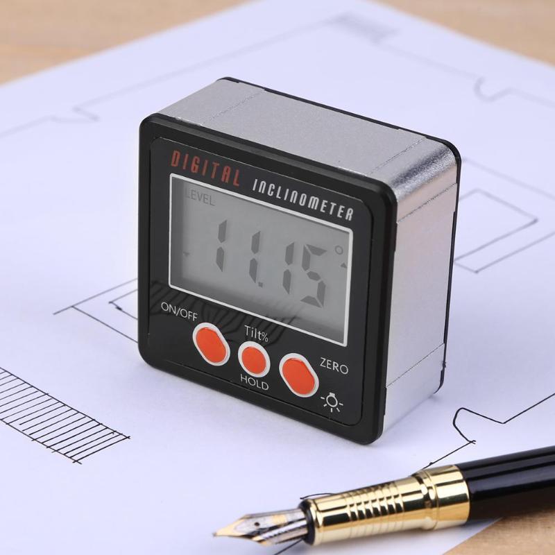 Messung Und Analyse Instrumente Digitale Winkelmesser Neigungs Ebene Box Wasserdicht Winkel Finder Gauge Messen Bevel Box Mit Magnet 90 Grad Messer Lineal