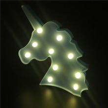 Lovely Unicorn Shaped Battery-Operated Plastic LED Nightlight
