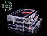 mother's day present global Transparent crystal drawer Acry licjewelry makeup organizer storage box chef basket