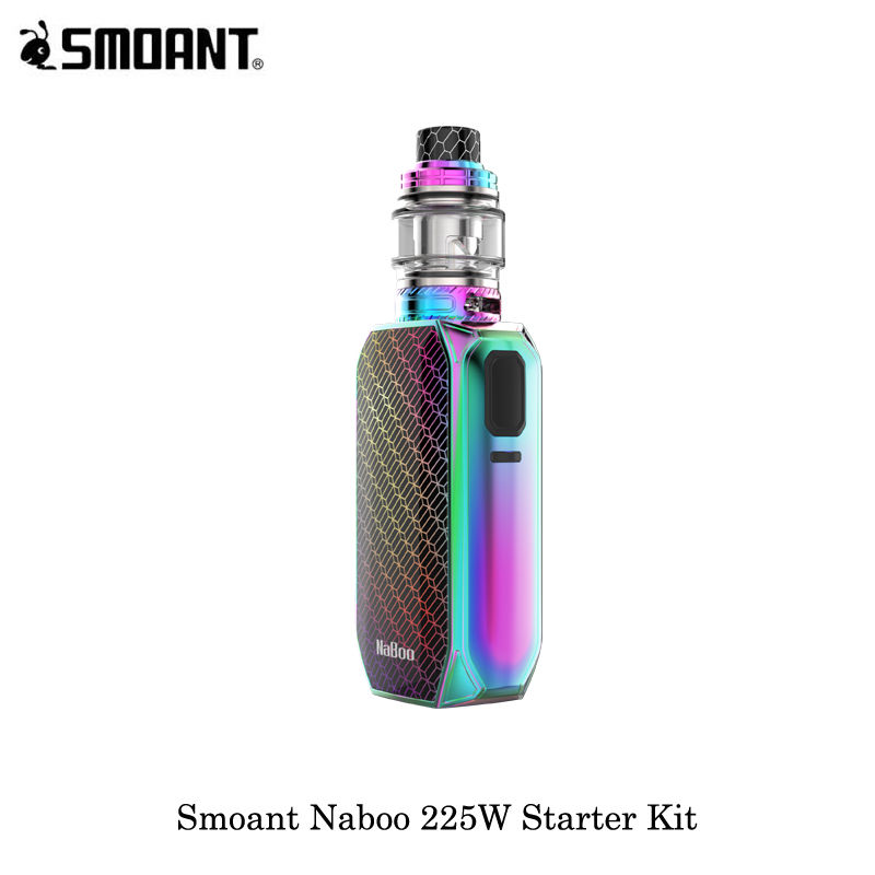 electronic cigarettes 225W Smoant Naboo Box Mod Vape Vaporizer Naboo Mesh Sub Ohm Tank 4ML/2ML Powered By Dual 18650 Battery Kit-in Electronic Cigarette Kits from Consumer Electronics    3